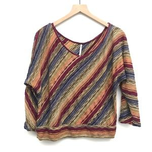 Free People Diagonal Striped Sweater - Size L